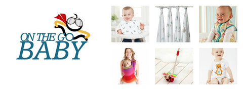 On The Go Baby logo with 6 product photos