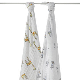 Aden + Anais Cotton Swaddles (2pk) Jungle Jam