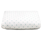 Liz and Roo Crib Sheets (2-pack) Aqua Mini Dots