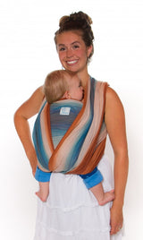 Chimparoo Woven Wrap Baby Carrier in Aquaterra