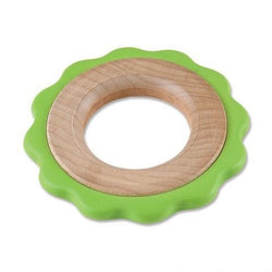 Begin Again - Green Ring Teether & Toy