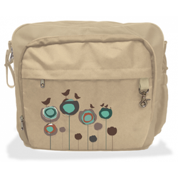 Simplygood - Fusion Diaper Bags in Camel Flowers w/Birds