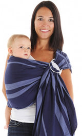 Chimparoo Ring Sling Baby Carrier in Azur