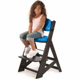 Height Right Kids Chair in Espresso with Aqua Comfort Cushions