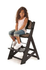 Height Right Kids Chair in Espresso with Chocolate Comfort Cushions