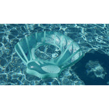 Giant Teal Glitter Sea Shell in pool by BigMouth Pool Floats