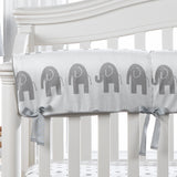 Liz and Roo Rail Covers in Gray Elephants