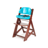 KEEKAROO Height Right Kids Chair in Mahogany with Aqua Comfort Cushions