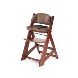 KEEKAROO Height Right Kids Chair in Mahogany with Chocolate Comfort Cushions