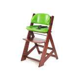 KEEKAROO Height Right Kids Chair in Mahogany with Lime Comfort Cushions