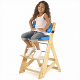 KEEKAROO Height Right Kids Chair in Natural with Aqua Comfort Cushions