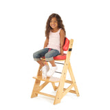 KEEKAROO Height Right Kids Chair in Natural with Cherry Comfort Cushions