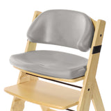 KEEKAROO Height Right Kids Chair in Natural with Grey Comfort Cushions