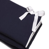 Liz and Roo Rail Covers in Navy Woven with White Trim