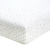 Liz and Roo Crib Sheets (2-pack) Pink Mini Dots