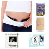 Pregnancy Essentials Bundle (5 pieces), bellaband, pregnancy journal, pregnancy stickers, preggie pops, belly butter
