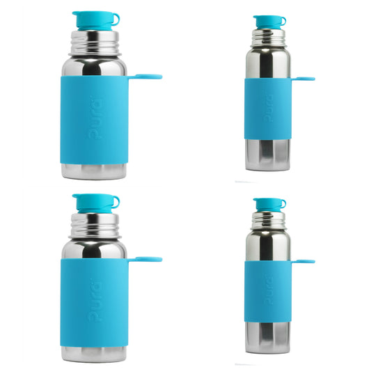 Pura Kiki - Sports Bottle FAMILY pack in Aqua