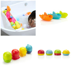 Ubbi Bath Toy Organizer and Toy Set (Shark)