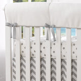 Liz and Roo Rail Covers in Gray Dots
