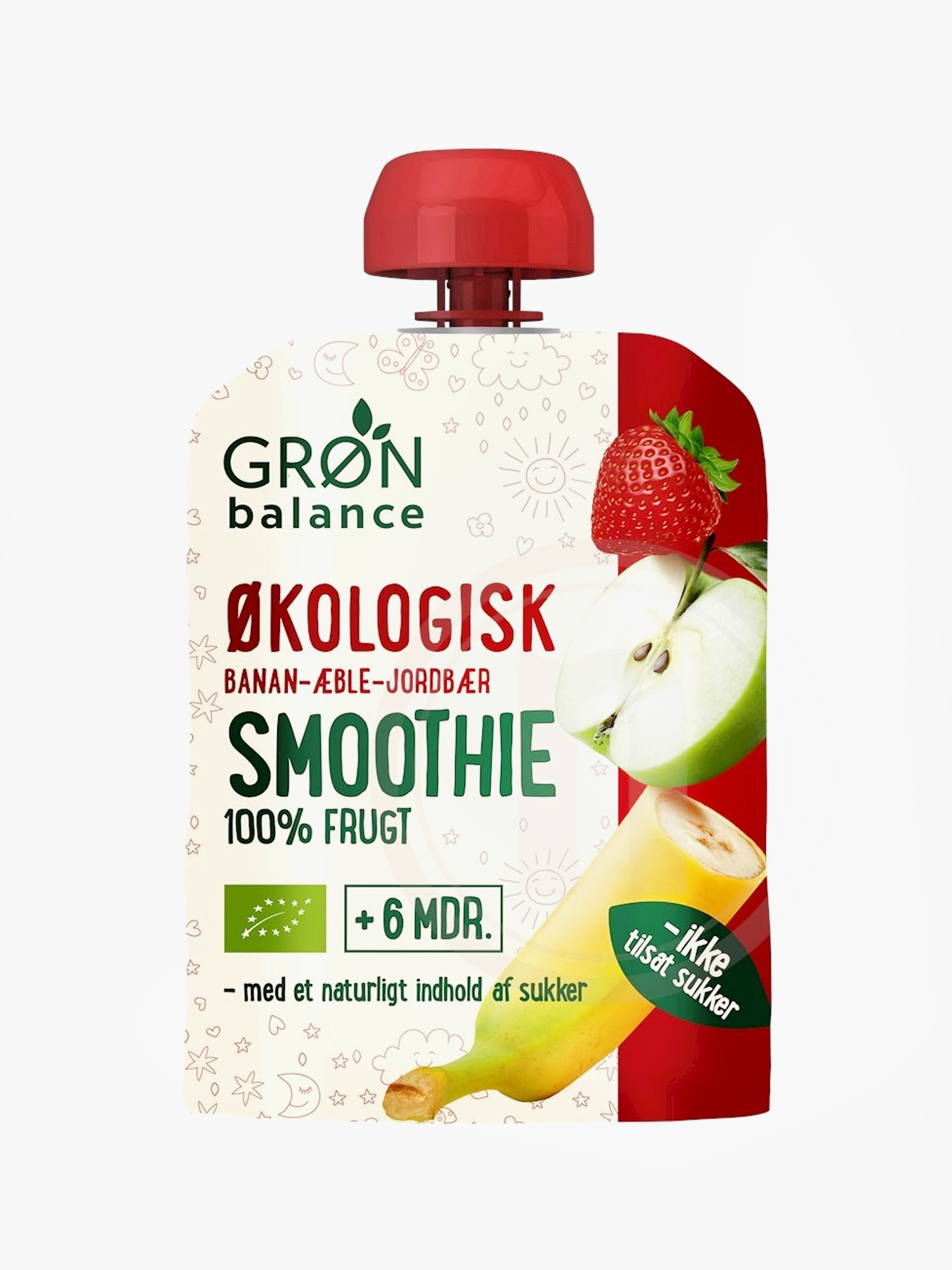 GB Smoothie Banan aeble jordbær øko.