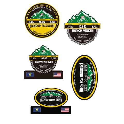 Beartooth Pass North - Red Lodge, MT Stickers