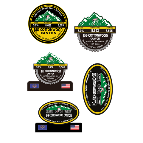 Big Cottonwood Canyon - Wasatch National Forest, UT Stickers