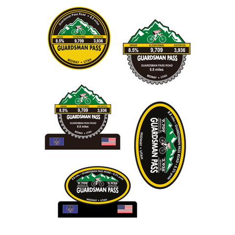 Guardsman Pass - Midway, UT Stickers