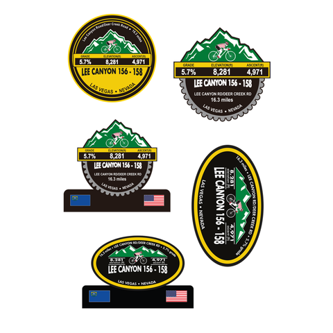 Lee Canyon 156-158 - Las Vegas, NV Stickers