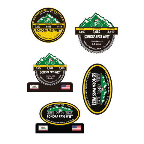 Sonora Pass West - Yosemite National Park, CA Stickers