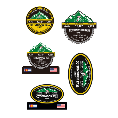 Cottonwood Pass East - Buena Vista, CO Stickers
