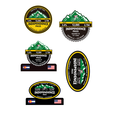 Independence Pass  - Leadville, CO Stickers