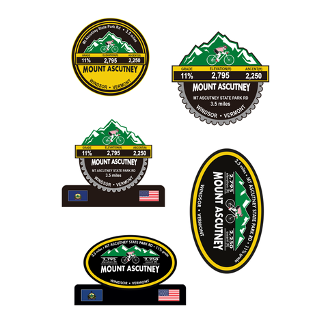 Mount Ascutney - Windsor, VT Stickers