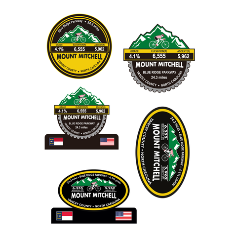 Mount Mitchell - Yancey County, NC Stickers
