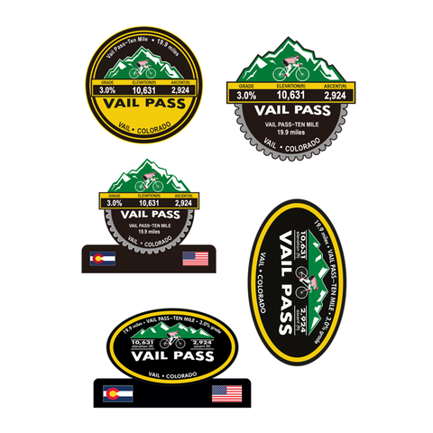 Vail Pass, Vail, CO Stickers