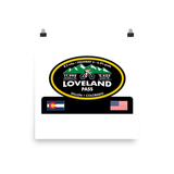 Loveland Pass Highway 6 - Dillon, CO Photo paper poster