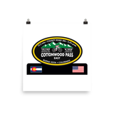 Cottonwood Pass East - Buena Vista, CO Photo paper poster