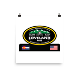 Loveland Pass Highway 6 - Georgetown, CO Photo paper poster