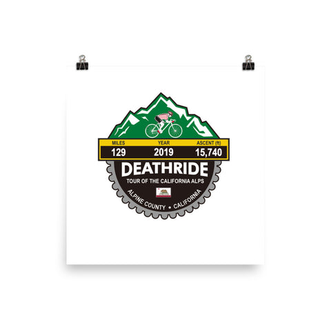 Deathride 2019, CA - Photo paper poster