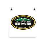 Kolob Terrace Road - Zion National Park, UT Photo Paper Poster