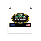 Mount Ashland - Ashland, OR Photo Paper Poster