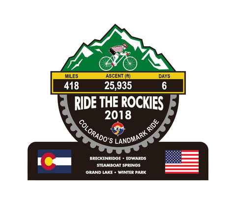 Ride The Rockies 2018, CO - Trophies