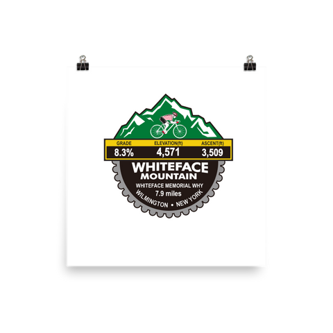 Whiteface Mountain - Wilmington, NY Photo Paper Poster