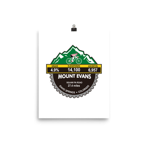 Mount Evans - Idaho Springs, CO Photo paper poster