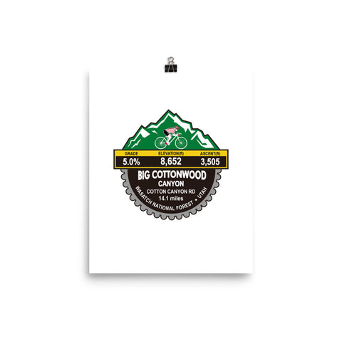 Big Cottonwood Canyon - Wasatch National Forest, UT Photo paper poster