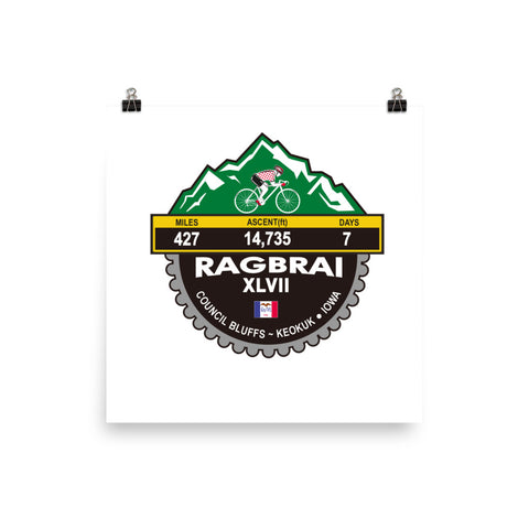 RAGBRAI XLVII 2019 IOWA - Photo paper poster