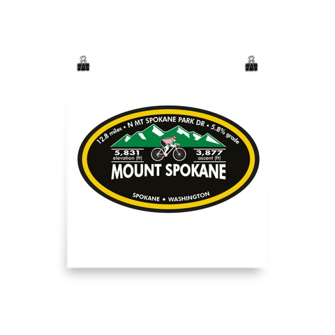 Mount Spokane - Spokane, WA Photo Paper Poster