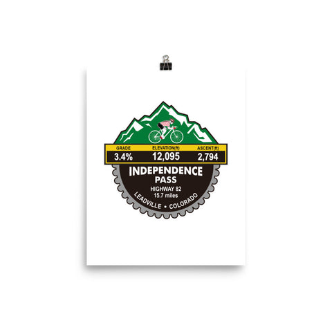 Independence Pass - Leadville, CO Photo paper poster