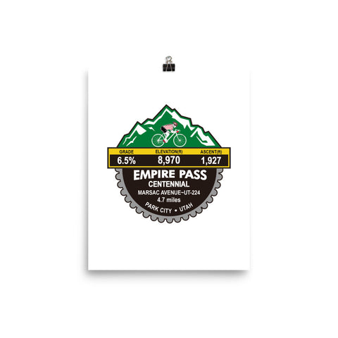 Empire Pass Centennial - Park City, UT Photo paper poster