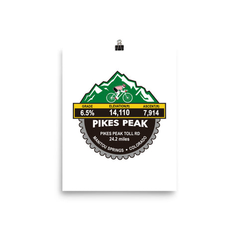 Pikes Peak - Manitou Springs, CO Photo paper poster
