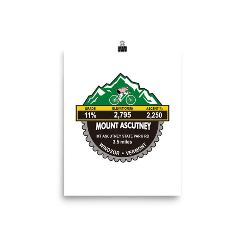 Mount Ascutney - Windsor, VT Photo paper poster